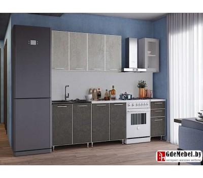 2 м кухня цвет бетон тёмный / светлый