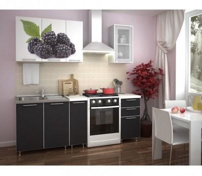 Кухня с фотопечатью «Ежевика» - 1.5 м