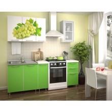Кухня с фотопечатью «Виноград» -  1.5 м