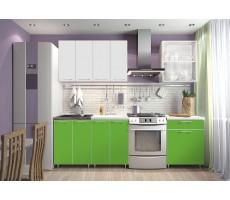 Кухня «Радуга» цвет Белый / Зеленый - 1.8 м
