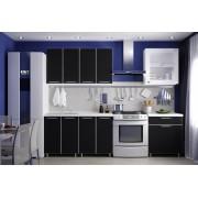 Кухня «Радуга» цвет Черный - 1.8 м