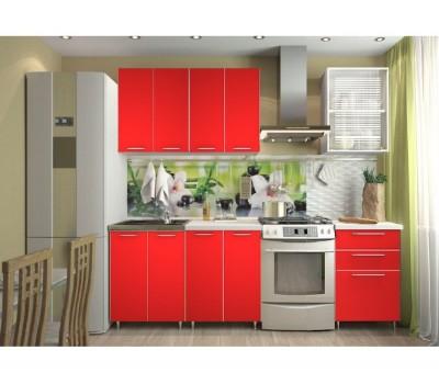 Кухня «Радуга» цвет Красный - 1.8 м