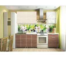 Кухня «Радуга» цвет Венге / Дуб беленый - 1.8 м