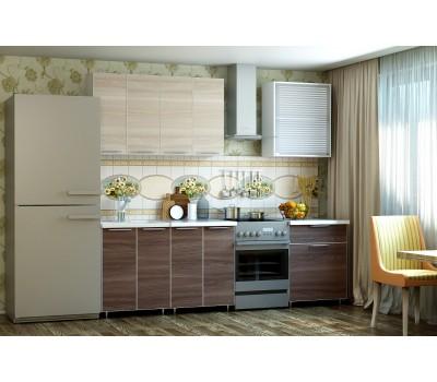 Кухня «Радуга» цвет Шимо темный / светлый - 1.8 м