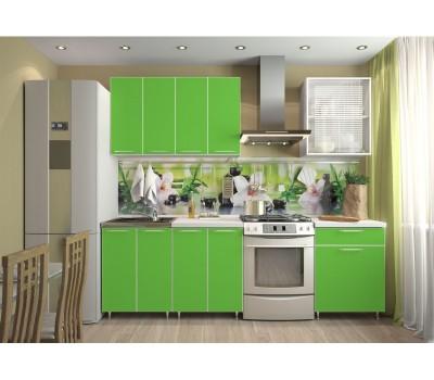 Кухня «Радуга» цвет Зелёная мамба - 1.8 м