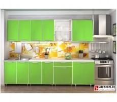 Кухня «Радуга» цвет Зелёная -  2.4 м