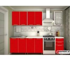 Кухня «Радуга» цвет Красный - 2 м
