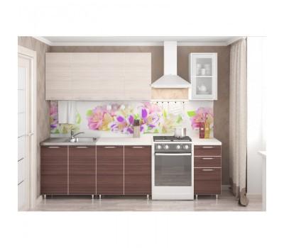 Кухня «Радуга» цвет Шимо тёмный / Светлый - 2 м