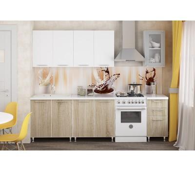 Кухня «Радуга» цвет Cонома / Белый - 2 м