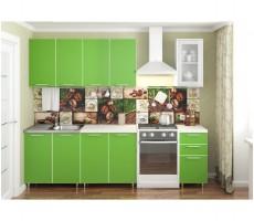 Кухня «Радуга» цвет Зелёная мамба - 2 м