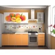 Кухня с фотопечатью «Персик» - 2 м