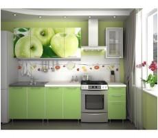 Кухня с фотопечатью «Яблоко» - 2 м