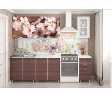 Кухня с фотопечатью «Цветы Шимо» - 2 м