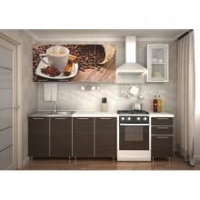 Кухня с фотопечатью «Кофе» - 2 м