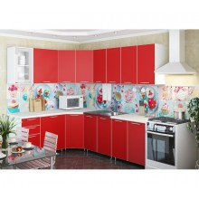 Кухня угловая «Радуга» 4.3 м цвет Красный