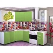 Угловая кухня с фотопечатью «Виноград» - 3.8 м