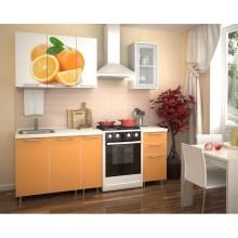 Кухня «Радуга» 1.5 м с фотопечатью Апельсин