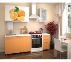 Кухня с фотопечатью «Апельсин» - 1.5 м