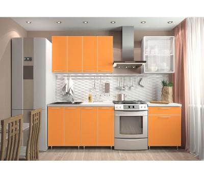 Кухня «Радуга» цвет Оранж - 1.8 м